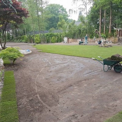 Wij helpen u graag met de aanleg van een nieuwe tuin.